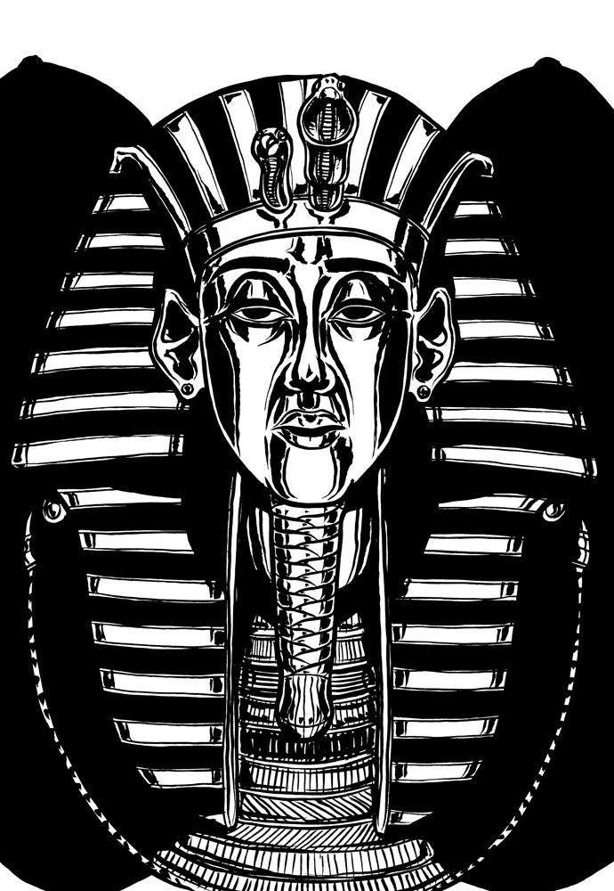 """Illustration för inlagan till """"Faraos förbannelse""""."""