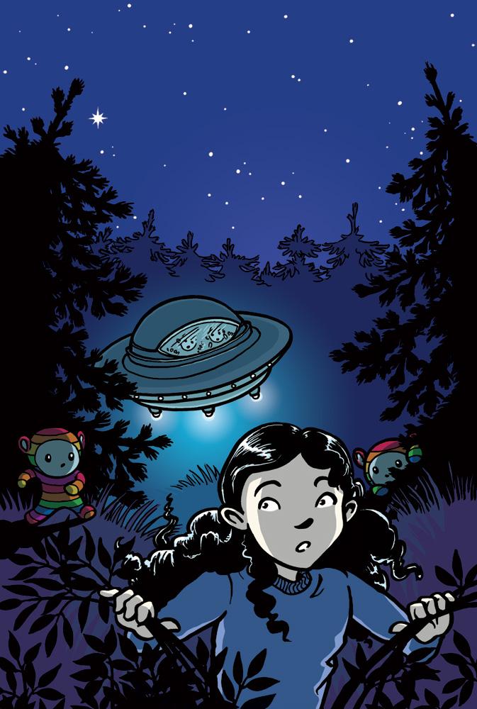 Framsidan till Mirell, ett rymdäventyr.
