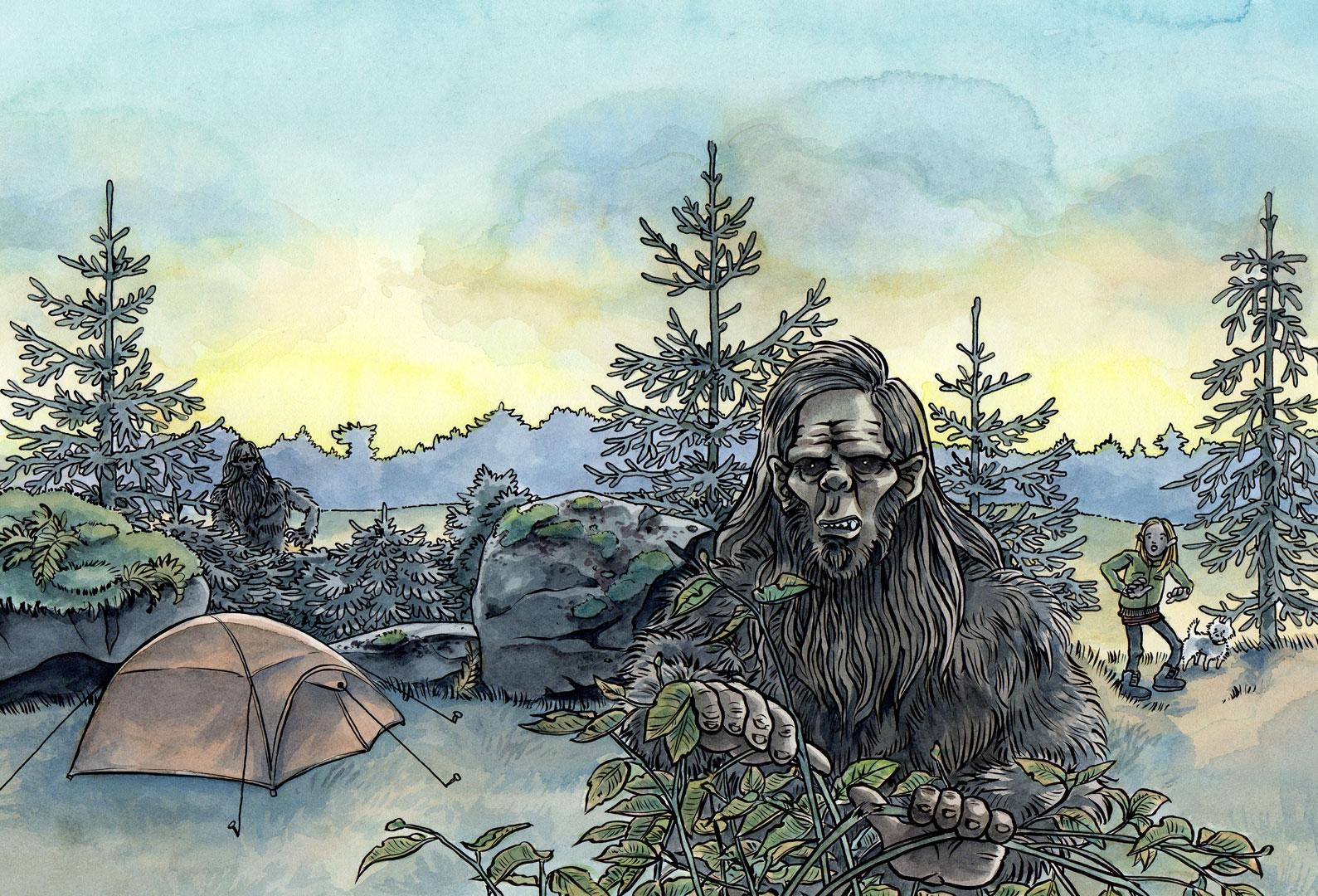 """Omslag till """"Mystiska myter: Bigfoot""""."""